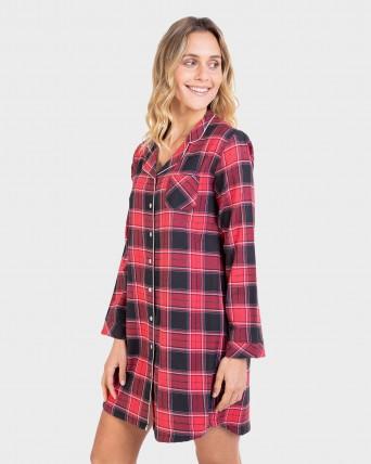 Camisa de dormir de dona 100% cotó obert