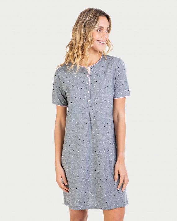 Camisa de dormir de dona màniga curta i tapeta