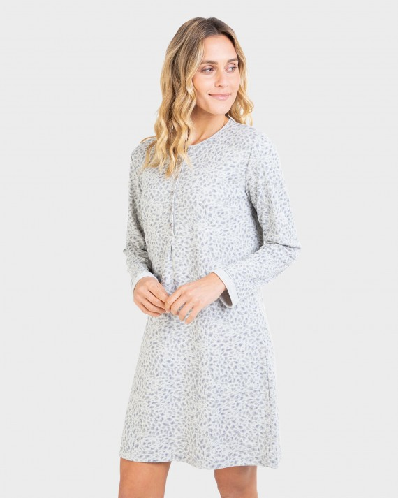 Camisón de mujer manga larga y tapeta
