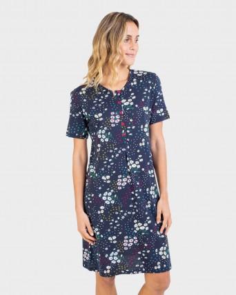 Camisón de mujer manga corta y tapeta