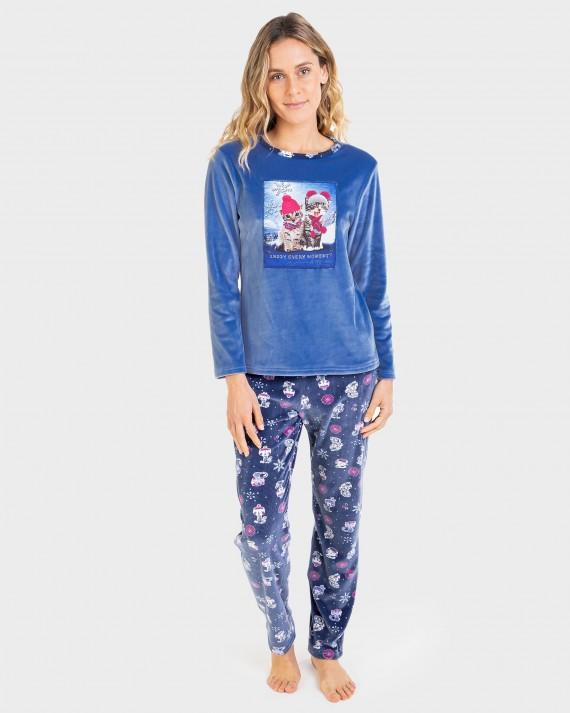 Pijama de dona pantalons i màniga llarga