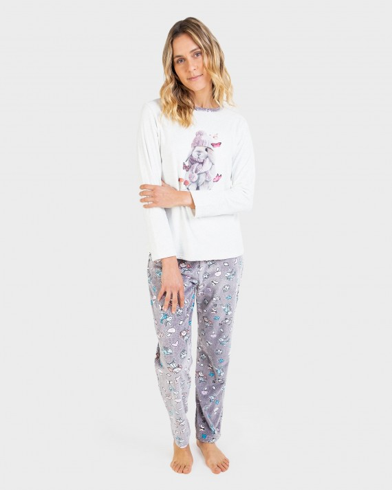 Pijama de mujer pantalón y manga larga