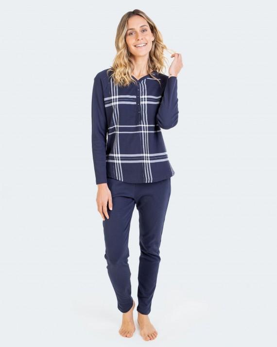 Pijama de mujer 100% algodón con tapeta