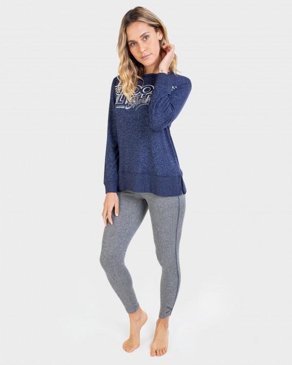 Pijama de mujer manga larga y pantalón tipo legging