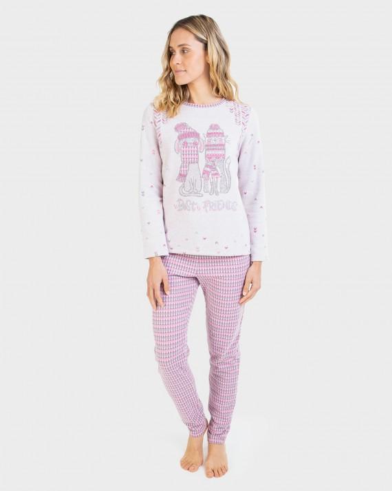 Pijama de m ujer màniga llarga i pantalons llargs