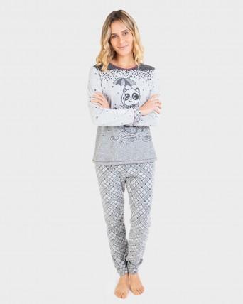 Pijama de mujer manga larga y pantalón largo