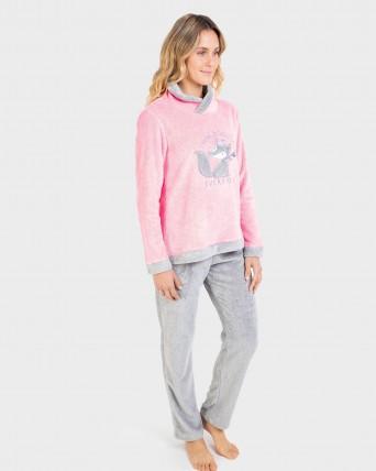 Pijama de mujer tipo polar