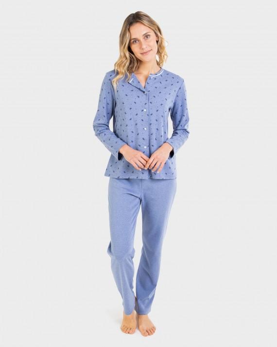 Pijama de dona obert amb botons.