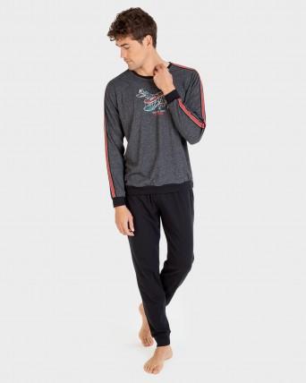 Pijama de hombre pantalon largo y 100% algodón