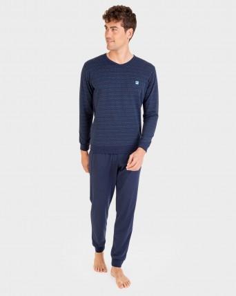 Pijama d'home pantalons i màniga llarga