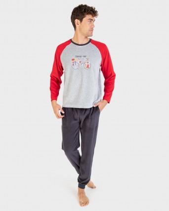 Pijama de hombre pantalón 100% algodón