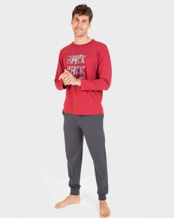 Pijama d'home 100% cotó màniga llarga