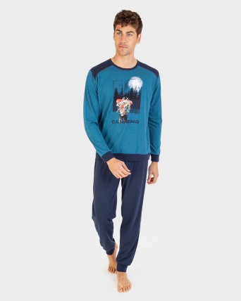 Pijama de hombre pantalón y manga larga