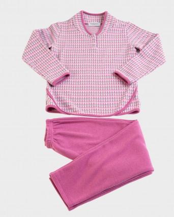 Pijama de niña de manga larga y pantalón largo