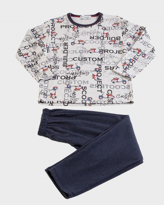 Pijama de niño manga larga y pantalón largo
