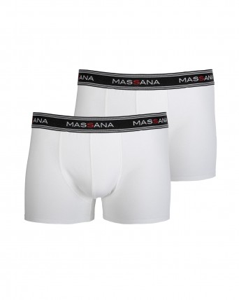 PACK 2 BOXERS HOME BLANC