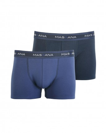 PACK 2 BOXERS HOMBRE AZUL