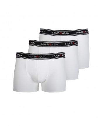 PACK 3 BOXERS HOMBRE BLANCO