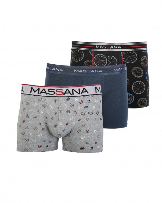 PACK 3 BOXERS HOME ESTAMPAT