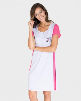 CAMISOLA MUJER CARAVANA GRIS