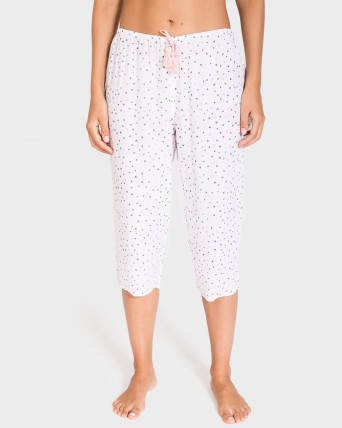 PANTALON MUJER PIRATA MIX AND MATCH BLANCO