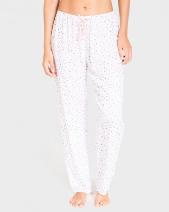 PANTALON MUJER LARGO MIX AND MATCH BLANCO