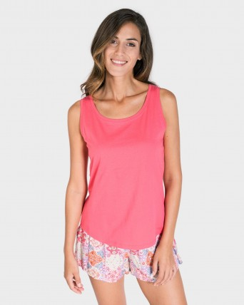 CAMISETA MUJER MIX AND MATCH TIRANTES FUCSIA