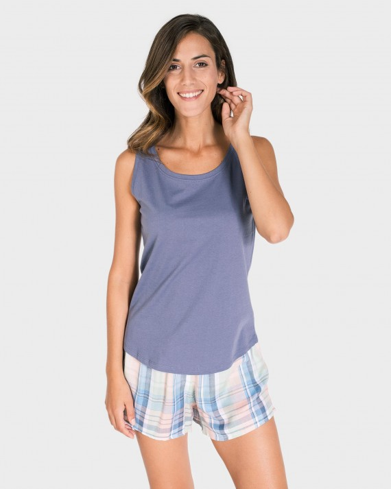 CAMISETA MUJER MIX AND MATCH TIRANTES GRIS