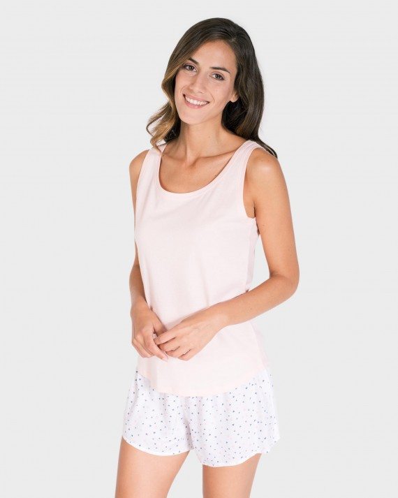 CAMISETA MUJER MIX AND MATCH TIRANTES ROSA