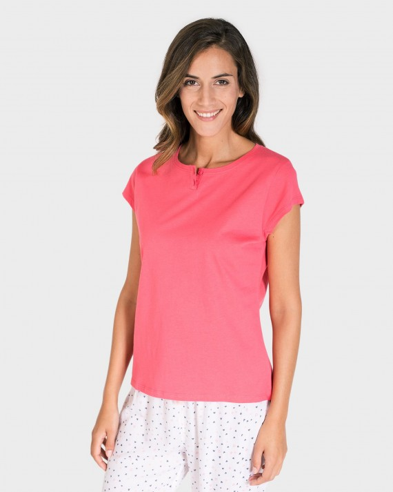 CAMISETA MUJER MIX AND MATCH MANGA CORTA FUCSIA