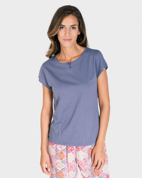 CAMISETA MUJER MIX AND MATCH MANGA CORTA GRIS
