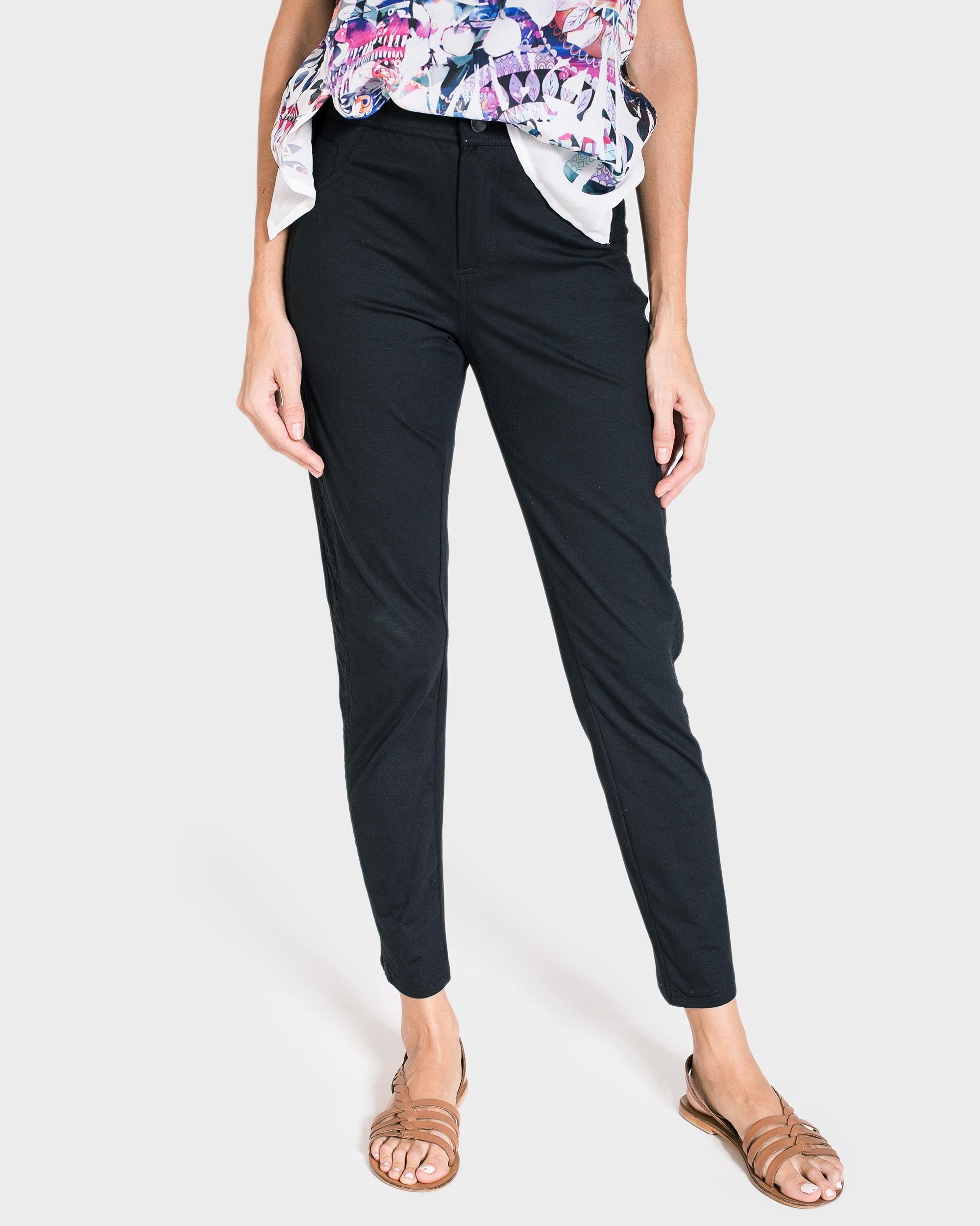 Pantalon Mujer Negro Verano Centro Textil Massana S L