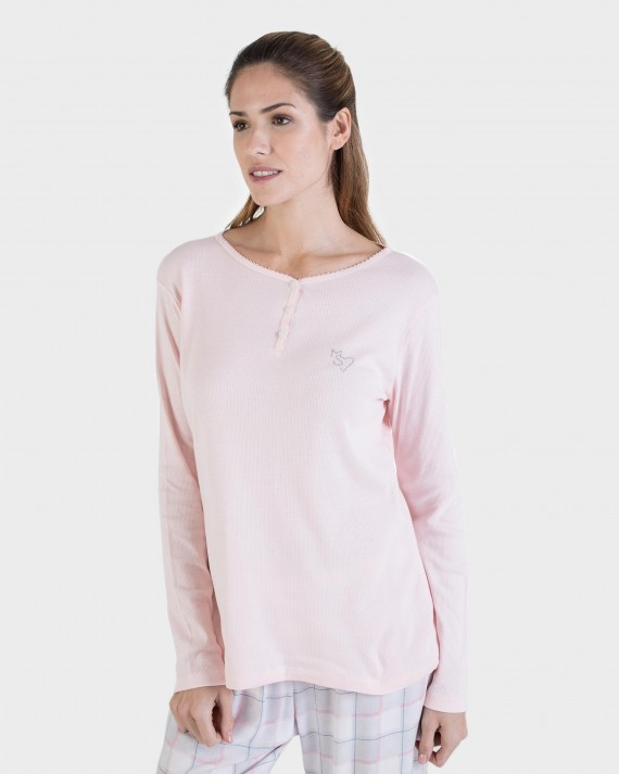 CAMISETA MUJER MIX AND MACH GRIS
