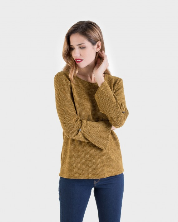 JERSEY MUJER OCRE