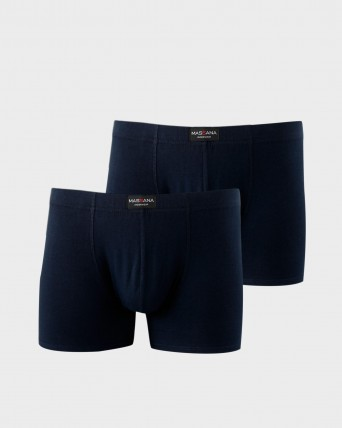 PACK 2 BOXER HOMBRE LISO MARINO