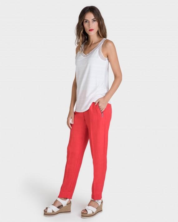 Pantalons de dona llarg llis