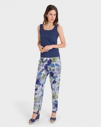 Pantalons de dona llarg estampat