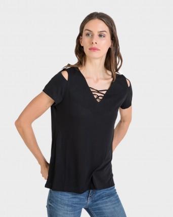 Camiseta de mujer de manga corta liso
