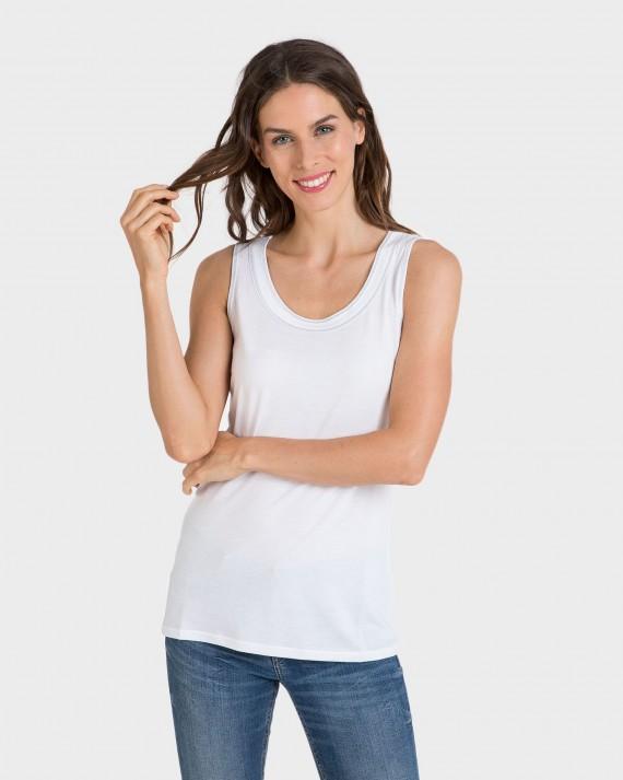 Blusa de mujer Algodón y Modal