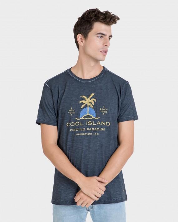 Samarreta d'home marí de màniga curta