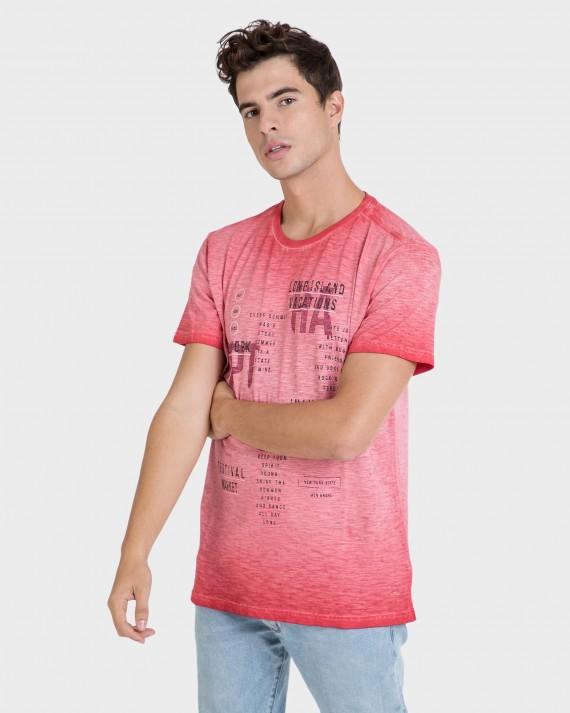 Camiseta de hombre fresa de manga corta