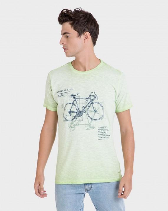 Camiseta de hombre lima de manga corta