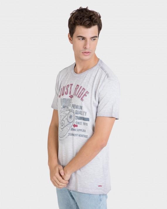Samarreta d'home gris de màniga curta