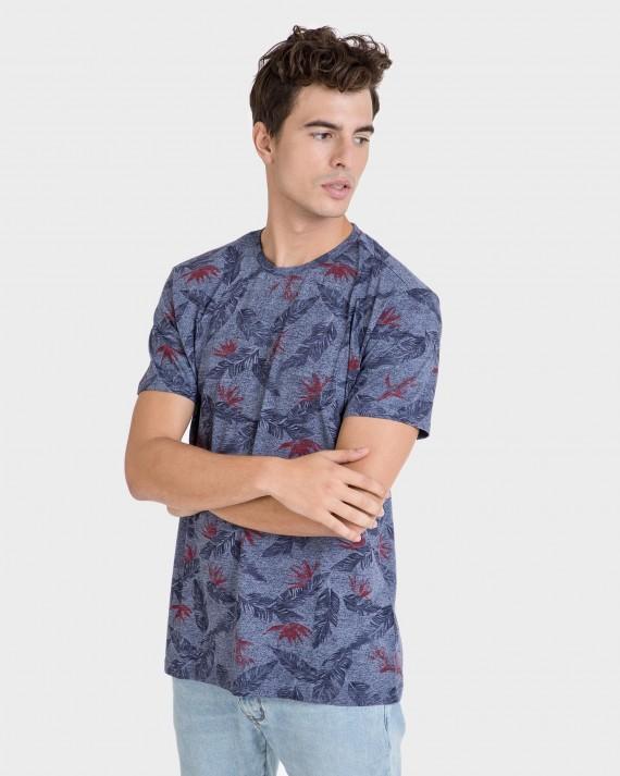 Camiseta de hombre estampada de manga corta
