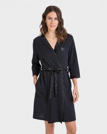 Bata de mujer manga francesa con cinturón