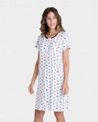 Camisola de mujer microestampado manga corta