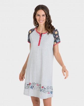 Camisola de dona màniga curta estampat mànigues