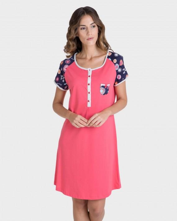 Camisola de mujer manga corta color rojo
