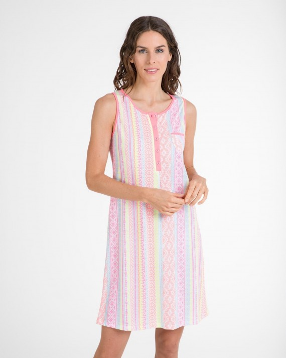 Camisola de mujer fluorescente sin mangas