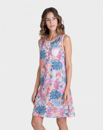 Camisola de mujer floral sin mangas